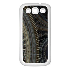 Fractal Spikes Gears Abstract Samsung Galaxy S3 Back Case (white)