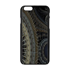 Fractal Spikes Gears Abstract Apple Iphone 6/6s Black Enamel Case