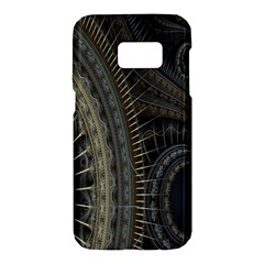Fractal Spikes Gears Abstract Samsung Galaxy S7 Hardshell Case
