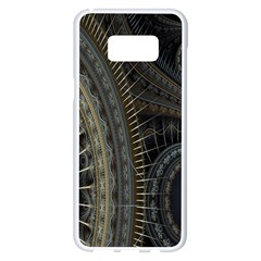 Fractal Spikes Gears Abstract Samsung Galaxy S8 Plus White Seamless Case
