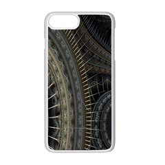 Fractal Spikes Gears Abstract Apple Iphone 8 Plus Seamless Case (white)
