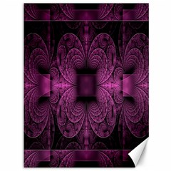 Fractal Magenta Pattern Geometry Canvas 36  X 48