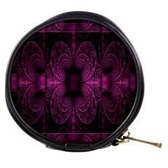 Fractal Magenta Pattern Geometry Mini Makeup Bags