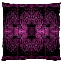 Fractal Magenta Pattern Geometry Large Cushion Case (two Sides)