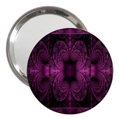 Fractal Magenta Pattern Geometry 3  Handbag Mirrors