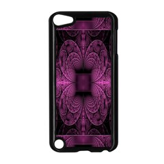 Fractal Magenta Pattern Geometry Apple Ipod Touch 5 Case (black)