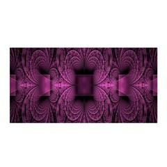 Fractal Magenta Pattern Geometry Satin Wrap