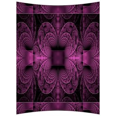 Fractal Magenta Pattern Geometry Back Support Cushion