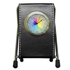 Abstract Art Modern Pen Holder Desk Clocks