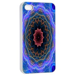 Cosmic Flower Kaleidoscope Art Apple Iphone 4/4s Seamless Case (white)