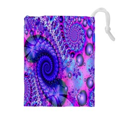 Fractal Fantasy Creative Futuristic Drawstring Pouches (extra Large)