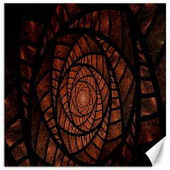 Fractal Red Brown Glass Fantasy Canvas 16  X 16