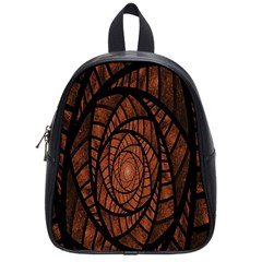 Fractal Red Brown Glass Fantasy School Bag (small)