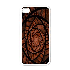 Fractal Red Brown Glass Fantasy Apple Iphone 4 Case (white)