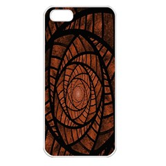 Fractal Red Brown Glass Fantasy Apple Iphone 5 Seamless Case (white)