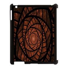 Fractal Red Brown Glass Fantasy Apple Ipad 3/4 Case (black)