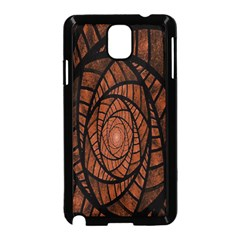 Fractal Red Brown Glass Fantasy Samsung Galaxy Note 3 Neo Hardshell Case (black)