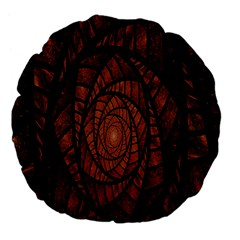 Fractal Red Brown Glass Fantasy Large 18  Premium Flano Round Cushions