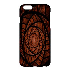 Fractal Red Brown Glass Fantasy Apple Iphone 6 Plus/6s Plus Hardshell Case