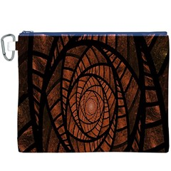 Fractal Red Brown Glass Fantasy Canvas Cosmetic Bag (xxxl)