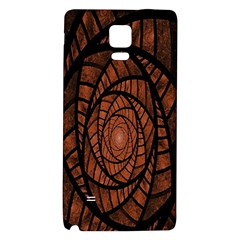 Fractal Red Brown Glass Fantasy Galaxy Note 4 Back Case