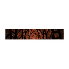Fractal Red Brown Glass Fantasy Flano Scarf (mini)