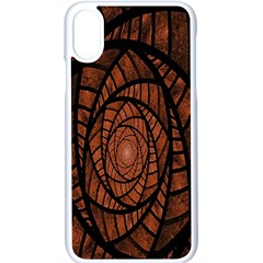 Fractal Red Brown Glass Fantasy Apple Iphone X Seamless Case (white)