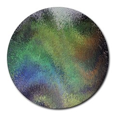 Frosted Glass Background Psychedelic Round Mousepads
