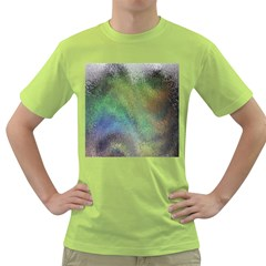 Frosted Glass Background Psychedelic Green T Shirt
