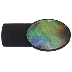Frosted Glass Background Psychedelic Usb Flash Drive Oval (4 Gb)