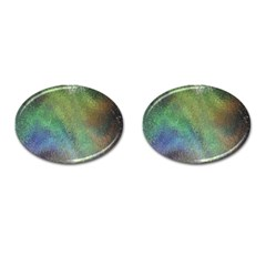 Frosted Glass Background Psychedelic Cufflinks (oval)