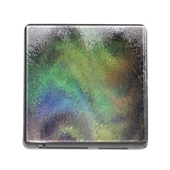 Frosted Glass Background Psychedelic Memory Card Reader (square)