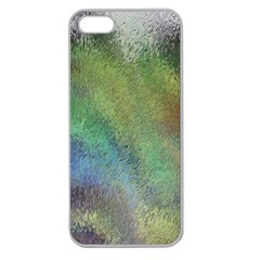 Frosted Glass Background Psychedelic Apple Seamless Iphone 5 Case (clear)