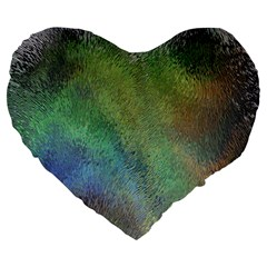Frosted Glass Background Psychedelic Large 19  Premium Heart Shape Cushions