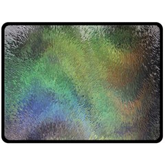 Frosted Glass Background Psychedelic Double Sided Fleece Blanket (large)