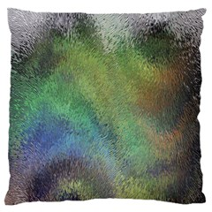 Frosted Glass Background Psychedelic Large Flano Cushion Case (two Sides)
