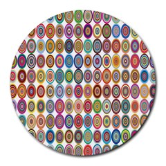Decorative Ornamental Concentric Round Mousepads