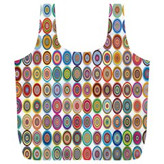 Decorative Ornamental Concentric Full Print Recycle Bags (l)