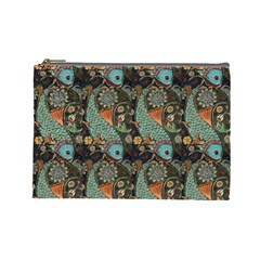 Pattern Background Fish Wallpaper Cosmetic Bag (large)