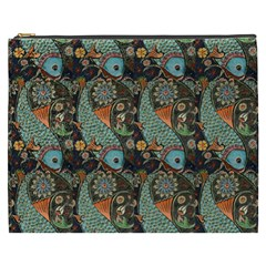 Pattern Background Fish Wallpaper Cosmetic Bag (xxxl)