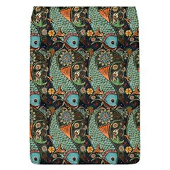 Pattern Background Fish Wallpaper Flap Covers (l)