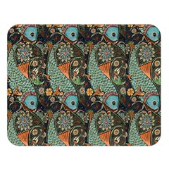 Pattern Background Fish Wallpaper Double Sided Flano Blanket (large)