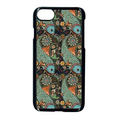 Pattern Background Fish Wallpaper Apple Iphone 8 Seamless Case (black)