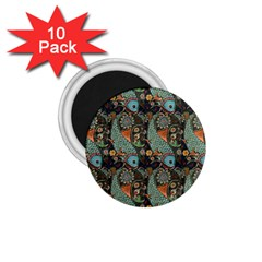 Pattern Background Fish Wallpaper 1 75  Magnets (10 Pack)
