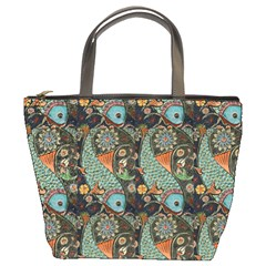 Pattern Background Fish Wallpaper Bucket Bags