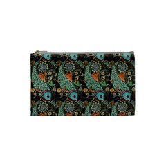 Pattern Background Fish Wallpaper Cosmetic Bag (small)