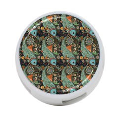 Pattern Background Fish Wallpaper 4 Port Usb Hub (two Sides)