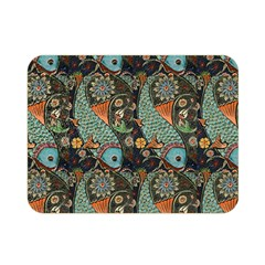 Pattern Background Fish Wallpaper Double Sided Flano Blanket (mini)
