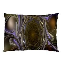 Fractal Waves Whirls Modern Pillow Case
