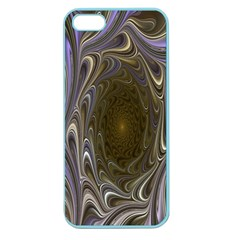 Fractal Waves Whirls Modern Apple Seamless Iphone 5 Case (color)